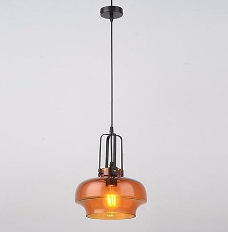 CJSHV lámpara colgante Minimalista, Moderno Industrial Personalidad Creativa Lantern Cafe Plancha Termo Glass Chandelier,