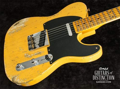 Fender Custom Shop 1952 Telecaster Heavy Relic Electric Guitar Aged Nocaster Blonde (SN:R99379)