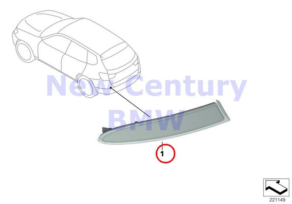 BMW Genuine Reflector Reflector Left X3 28dX X3 28i X3 28iX X3 35iX