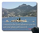 Inspirational Bible Verse Quotes Preverbs 16:3 Oblong Mouse Pad in 240mm*200mm*3mm VQ0711005