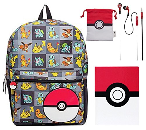 pokemon-kids-17-backpack-pokeball-notebook-and-pokeball-earbuds-with-storage-bag