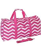 World Traveler Pink Chevron Gym Duffle Bag 21-inch
