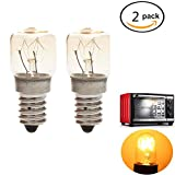 2 Pack 220-240V Oven Light Bulb E14 Oven Lamp Heat Resistant Bulb 300 Degree Lamp for Kitchen Aid Oven Light Bulb