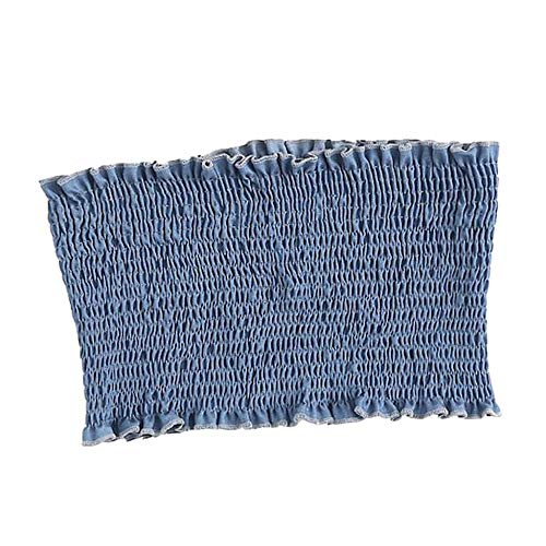 Chest a fascia blu Casual Shirt Backless sottile Maglietta Canotta Vjgoal Fashion Wrapped Summer Elastico Blouse Background c4ASRL3q5j