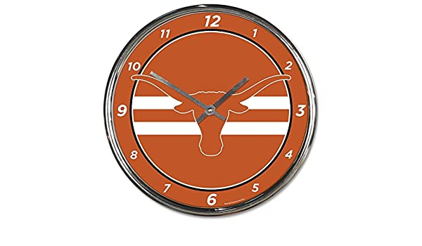 Wincraft Texas Longhorns 12 inch Round Wall Clock Chrome Plated