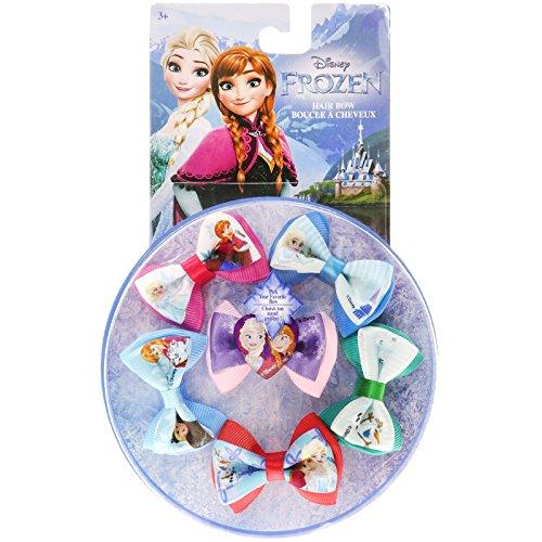 TownleyGirl Disney Frozen Fabulous Bow Set, 6 Boutique Ribbon Hair Bows For Teens, Girls, (Pink Hair Disney Character)