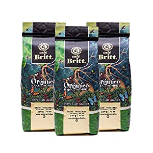Well-Being-Matters 51qeCgD6cEL._SS300_ Café Britt® - Costa Rican Shade Grown Organic Coffee (12 oz.) (3-Pack) - Whole Bean, Arabica Coffee, Organic, Kosher…