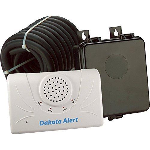 Dakota Alert 2500 Wireless Rubber Hose Vehicle Sensor, White Black (DCRH-2500)