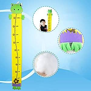 Tape Measures - Cartoon Wall Hanging Baby Kids Growth Ruler Home Height Measure Sticker Children Toys Room - Knitting Pink Chain Sets Class Max Small Safe Dummies Glass