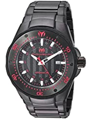 Technomarine Mens Manta Automatic Stainless Steel Casual Watch, Color:Black (Model: TM-215097)