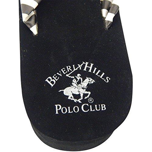 Beverly Hills Polo Club Rola Donna Zeppa Piattaforma Zeppa Infradito Sandalo Infradito Bianco E Nero