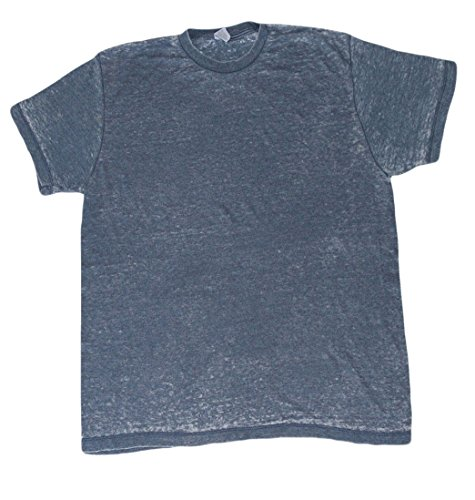 Acid Wash Denim Shirt - Acid Wash Burnout T-Shirts Adult S-3 X 60/40 Cotton/Polyester Blend (Medium, Denim)