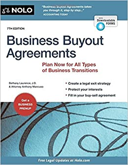 Amazon business buyout agreements plan now for all types of amazon business buyout agreements plan now for all types of business transitions 9781413322637 anthony mancuso attorney bethany k laurence jd platinumwayz