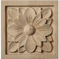 Ekena Millwork ROS03X03X00DGLW Small Dogwood Flower Rosette, 3-Inch x 3-Inch x 5/8-Inch, Lindenwood by Ekena Millwork