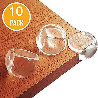 BYETOO Baby Safety Corner Guards,10 Pcs Premium Clear Furniture Edge Corner Protectors with Strong 3M Stickers Adhesive,Baby Safety Desk Table Sharp Corner Cushion Padding,Keep Children Safe - 10 Pack