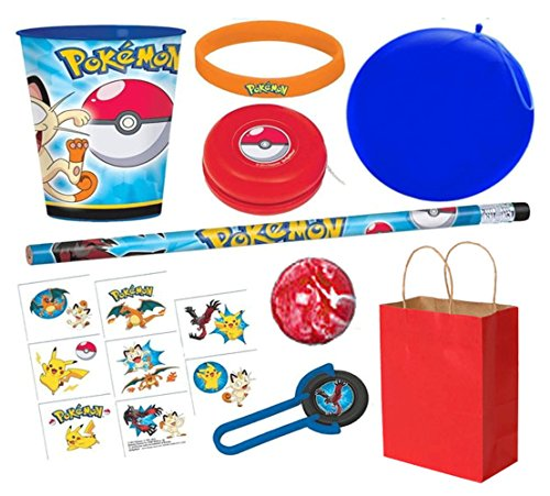 Pokemon The Ultimate Go Inspired PRE Filled Party Favor Kit Gift Bag! Souvenir Keepsake Cup, Themed Favors & Loot Bag Included! -