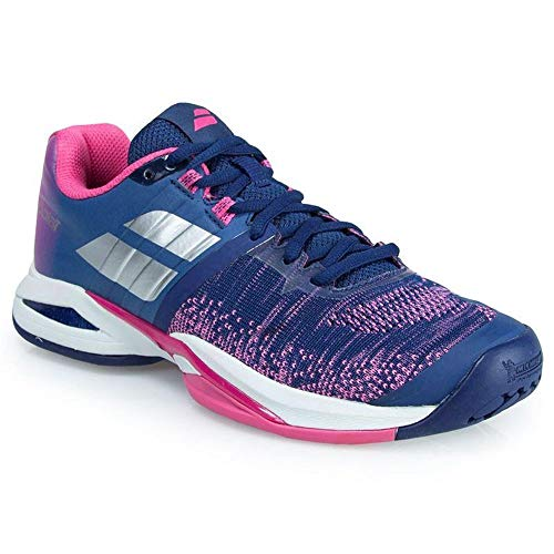 Babolat Propulse Blast All Court Womens Tennis Shoe Estate Blue/Fandango Pink