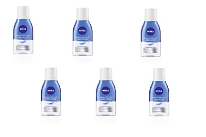 Nivea Desmaquillador de Ojos, Doble Acción - 6 de 125 ml. (Total 750