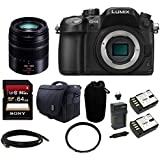 Panasonic LUMIX DMC-GH4K DMC-GH4KBODY GH4 16.05MP Digital Single Lens Mirrorless Camera (Body) + Panasonic H-FS45150K Lumix G Series Lens (Black) + Sony 64GB SDHC Class 10 Memory Card + Card Reader + Camera Bag + Replacement Battery and Charger + Deluxe Ac