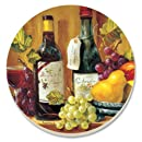 CounterArt Fruit and Wine Absorbent Coasters, Set of 4