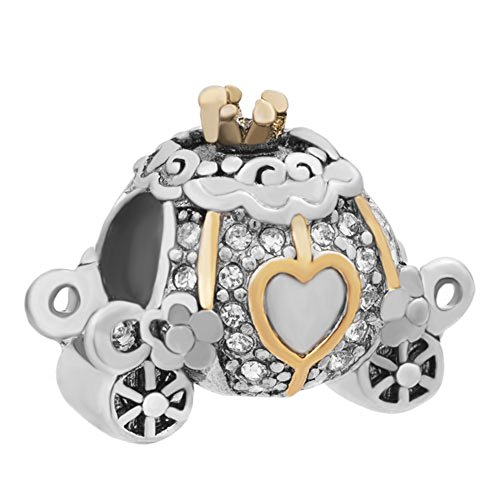 CharmSStory Cinderella Carriage Charm Beads For Charm Bracelets