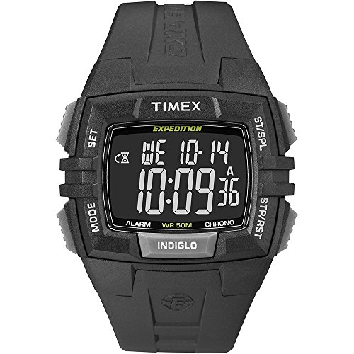 Mens Expedition Black Dial (Timex Expedition Chronograph Digital Dial Black Resin Mens Watch T49900)