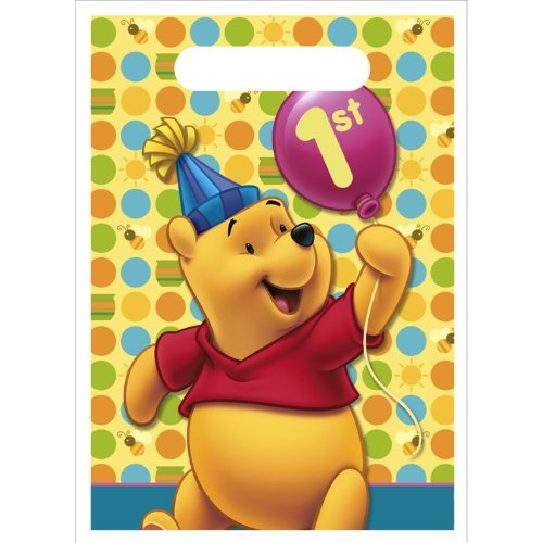 Pooh's 1st Birthday Loot Bags, - Bags First Birthday Loot
