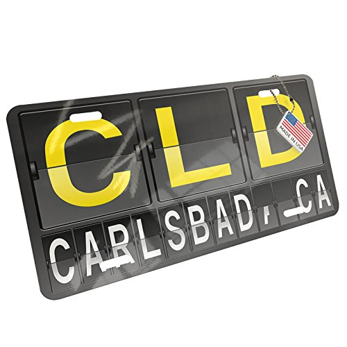 Cld Air (NEONBLOND Metal License Plate CLD Airport Code for Carlsbad, CA)