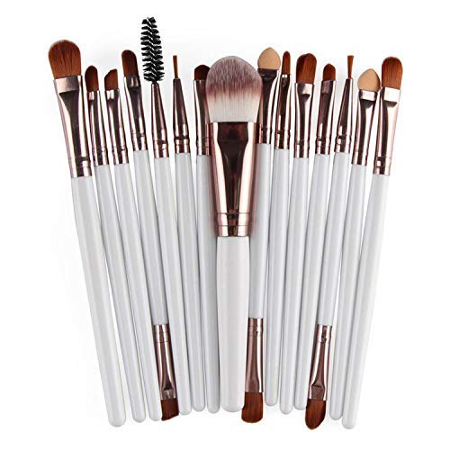 Makeup Brushes Set, 15 Pieces Professional Cosmetic Eye Foundation Face Eyeshadow Shadow Eyeliner Blush Lip Blending Makeup Brushes Tools