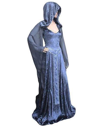 GladiolusA Vestido Largo Disfraz Medieval De Mujer Traje ...