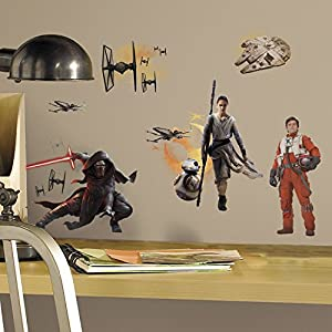 York Wallcoverings Star Wars Episode VII The Force Awakens Characters Peel and Stick/Removable Giant Wall Decals (1)
