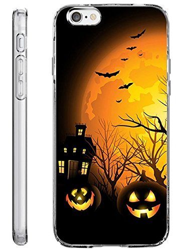 Hard Back Case Cover Shell for iPhone 6s Plus 5.5 Inch Halloween Night -