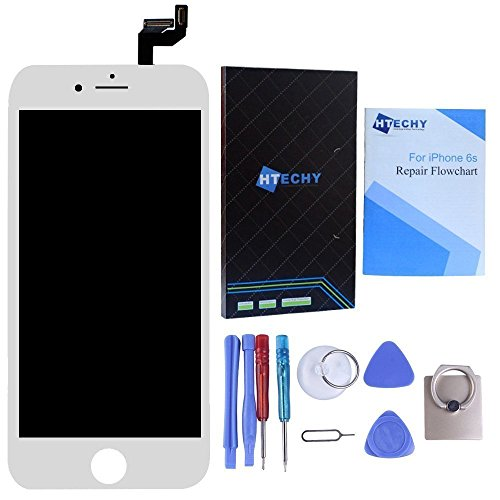 White LCD For iPhone 6S 4.7inch LCD Screen Replacement Kit Digitizer Touch Screen with Frame Display Assembly with 3D Touch & Repair Tools