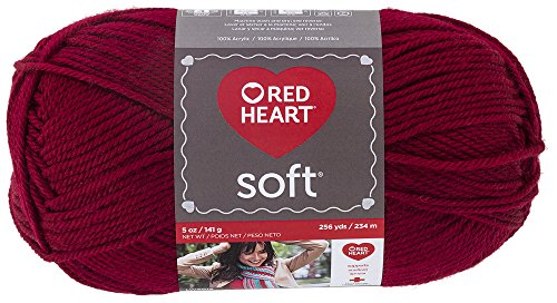 - Red Heart  Soft Yarn, Wine - E728.4608