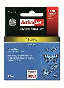 Tinta Activejet Expacjaep0247 Ae-804R Recarga Para Epson T0804, 9 Ml, Amarillo