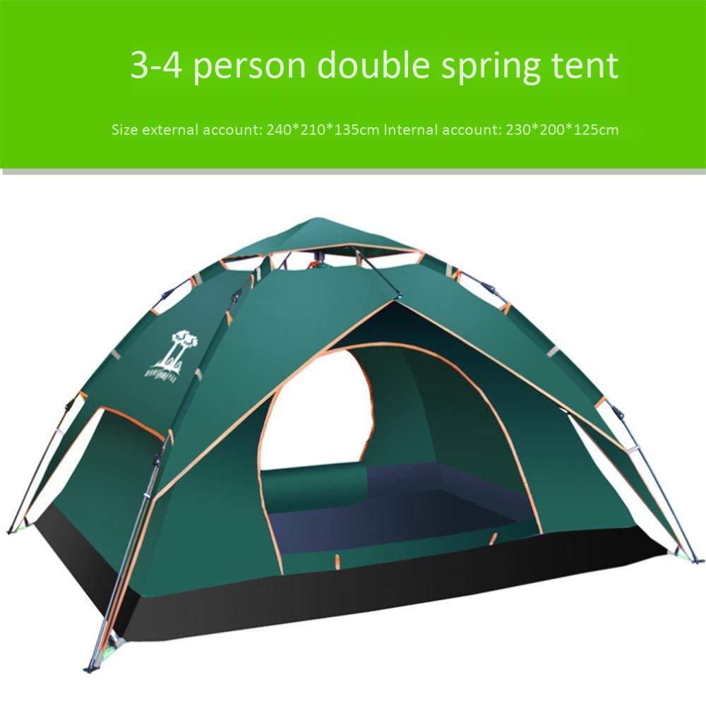 GCCLCF Tenda a Doppio Strato a Molla Automatica Tenda Campeggio Campeggio Outdoor Camping,Bronze,M