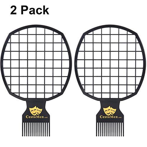 2 Pieces Twist Comb Twist Brush Curl Comb Afro Curl Comb Twist Hair Coils Comb Tool for Natural Hair (Black) (Best Twists For Natural Hair)