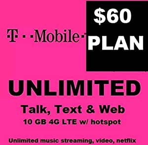 About this Plan. The Unlimited Talk and Text Only plan is available in-store only or via call at TMOBILE. The plan provides unlimited minutes and text & picture messages in the US, Mexico and Canada for $20 per line, up to 12 lines, taxes and fees included.