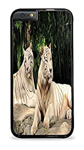 White Tigers Black Hardshell Case for iPhone 6 (4.7)