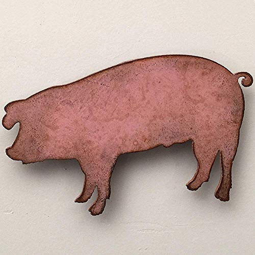 Landrace Pig - Metal Wall Art Home Decor - Choose 7