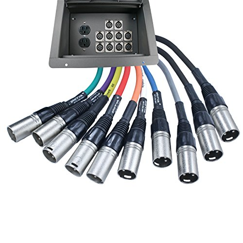 Pro Audio Stage Recessed Floor Box with 110v Electric and XLR Connections (10 XLR, Pre Wired) by Advance MCS Electronics