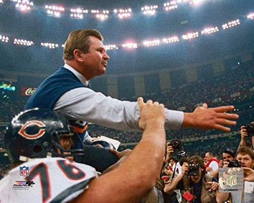 Chicago Bears Mike Ditka Moments after Winning Super Bowl XX. 8x10 Photo, Picture.