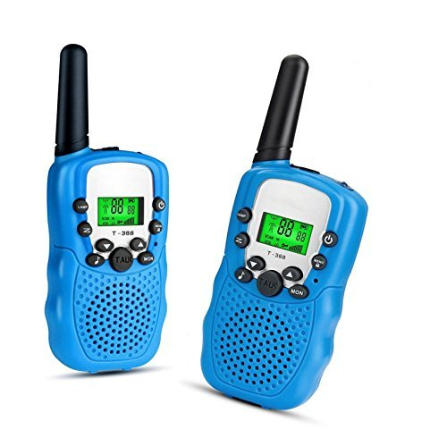 Walkie talkies for kids toyes by KeenWiz ,2pcs pink small Walkie Talkies 2 Way Radio 22 Channel long range (blue)