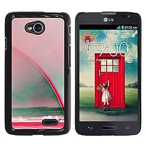 YOYOYO Smartphone Protección Defender Duro Negro Funda Imagen Diseño Carcasa Tapa Case Skin Cover Para LG Optimus L70 LS620 D325 MS323 - arco iris dom arte mar verano verde azulado roja