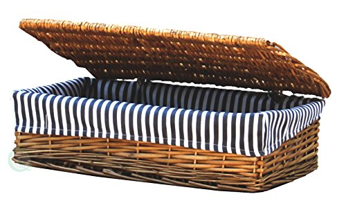 Lined Storage Basket with Lid - Large