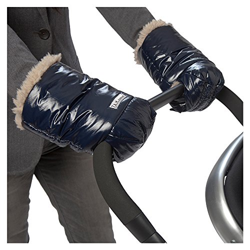 Stroller Oxford - 7AM Enfant Polar WarMMuffs, Wind and Water-Resistant Stroller Gloves with Universal Fit, Best for Freezing Winter Conditions, (Oxford Blue, One Size, Set of 2)