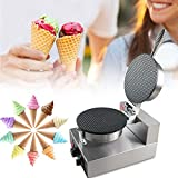 Electric Ice Cream Cone Machine Egg Roll Maker 1250W Nonstick Commercial Baker Pastry Making Baking Tools Electric Egg Roll Ice Cream Cone Maker