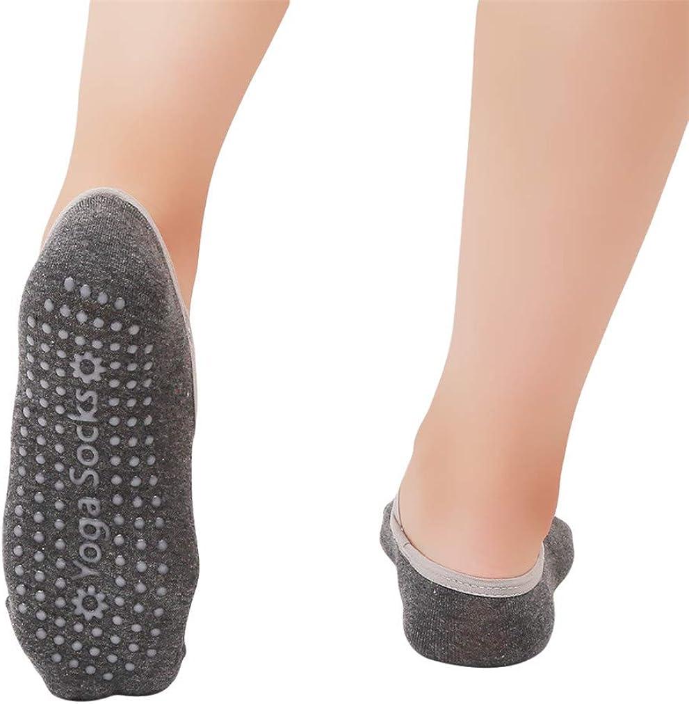rutschfeste Griffe und Gurte ideal f/ür Pilates Ballett- Tanz- und Barfu/ß-Training reines Barre- Sevenfly Yoga-Socken f/ür Frauen