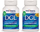 Enzymatic Therapy, DGL (Without Fructose), 100 Chewable Tablets. Pack of 2 bottles