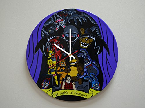 Horror Video Games Design HANDPAINTED Vinyl Record Wall Clock - Get Unique Rest Room and Bedroom Wall Decor - Gift Ideas For Boys and Girls - Game Characters Ornament Unique Fan Art